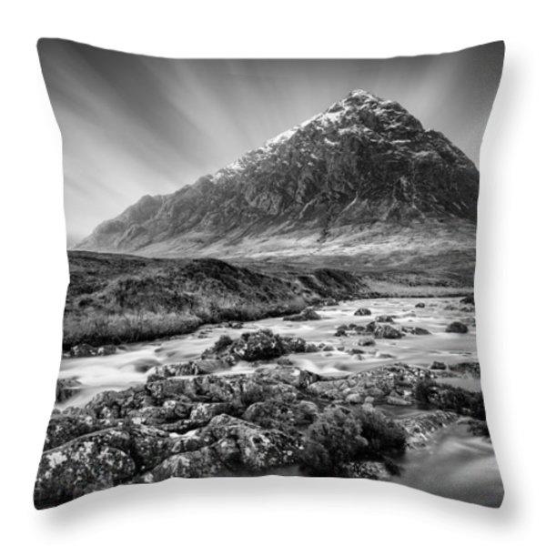 Buachaille Etive Mor 3 Throw Pillow by Dave Bowman