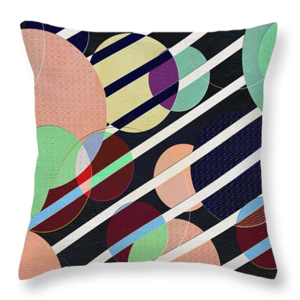 Bubble Universe Throw Pillow by Linda Dunn