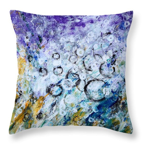Bubbles Throw Pillow by Kume Bryant