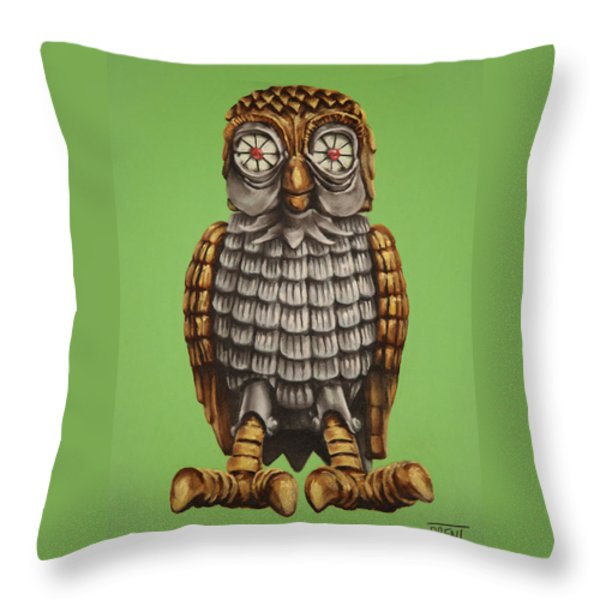 Bubo Throw Pillow by Brent Andrew Doty