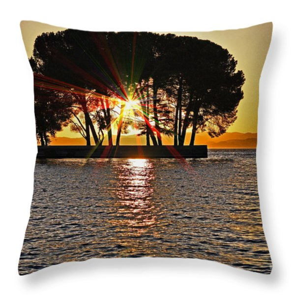 Buckingham Point Sunset 2 Throw Pillow by Cheryl Young