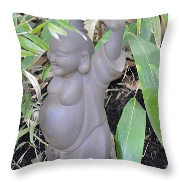 Budai Throw Pillow by Sonali Gangane