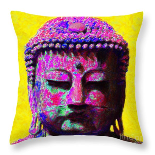 Buddha 20130130m168 Throw Pillow by Wingsdomain Art and Photography