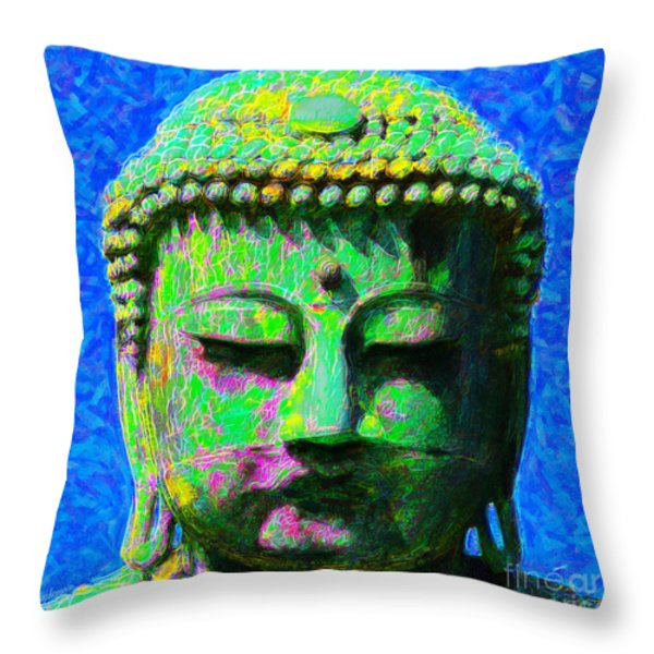 Buddha 20130130p0 Throw Pillow by Wingsdomain Art and Photography