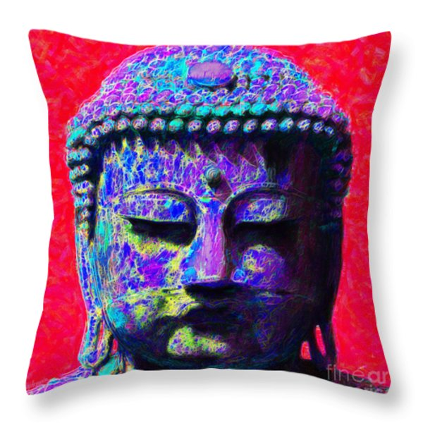 Buddha 20130130p128 Throw Pillow by Wingsdomain Art and Photography
