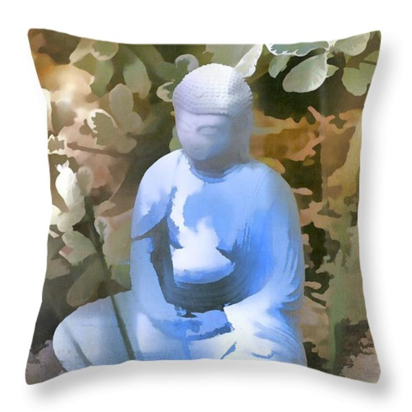 Buddha 3 Throw Pillow by Pamela Cooper