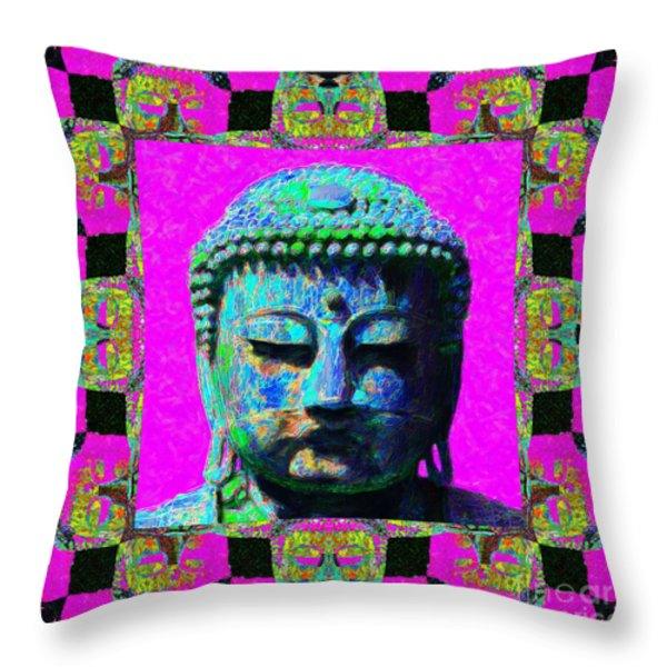Buddha Abstract Window 20130130p0 Throw Pillow by Wingsdomain Art and Photography