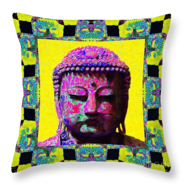 Buddha Abstract Window 20130130p120 Throw Pillow by Wingsdomain Art and Photography
