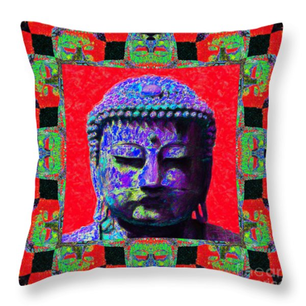 Buddha Abstract Window 20130130p55 Throw Pillow by Wingsdomain Art and Photography