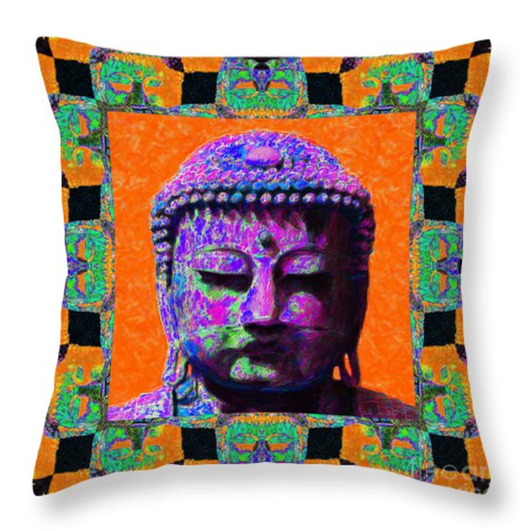 Buddha Abstract Window 20130130p85 Throw Pillow by Wingsdomain Art and Photography