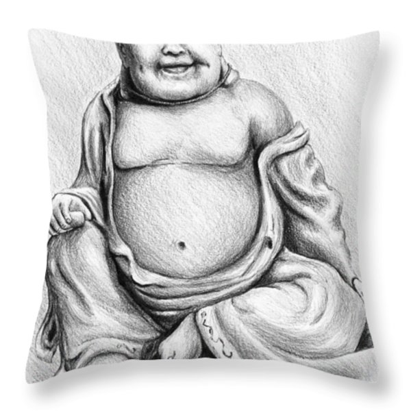 Buddha Buddy Throw Pillow by Andrew Read