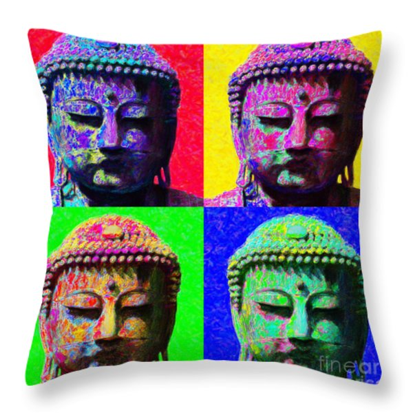 Buddha Four 20130130 Throw Pillow by Wingsdomain Art and Photography