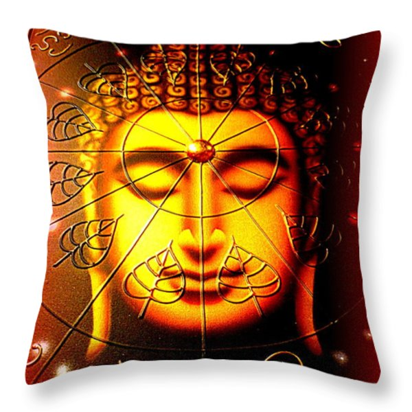 Buddha Throw Pillow by The Creative Minds Art and Photography