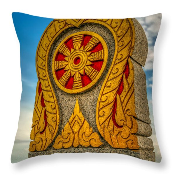 Buddhist Icon Throw Pillow by Adrian Evans