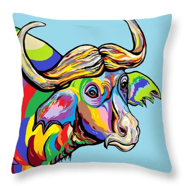 Buffalo Throw Pillow by Eloise Schneider