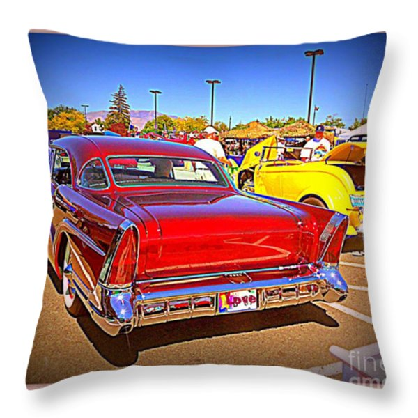 Buick Classic Throw Pillow by Bobbee Rickard