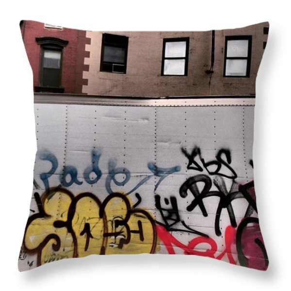 Building Blocks - Tribute To Leger 2 Throw Pillow by Miriam Danar