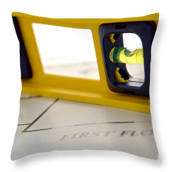 Building The Dream Home Throw Pillow by Olivier Le Queinec