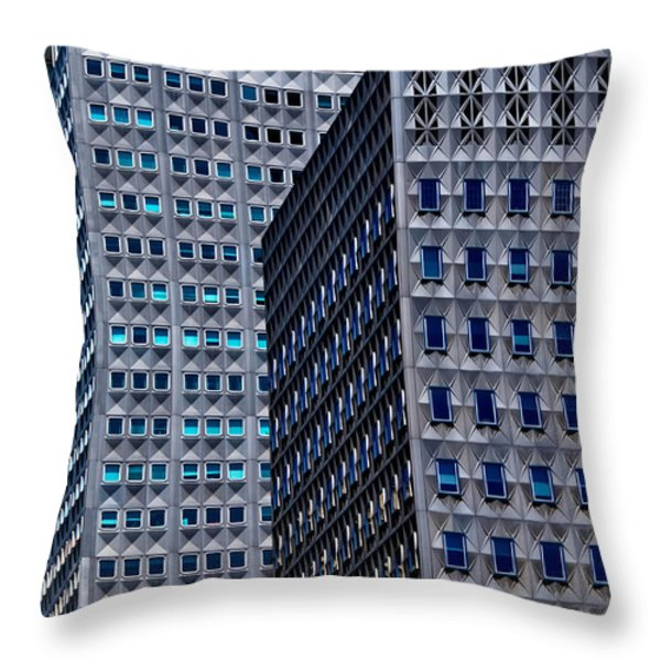 Buildings Downtown Pittsburgh Throw Pillow by Amy Cicconi