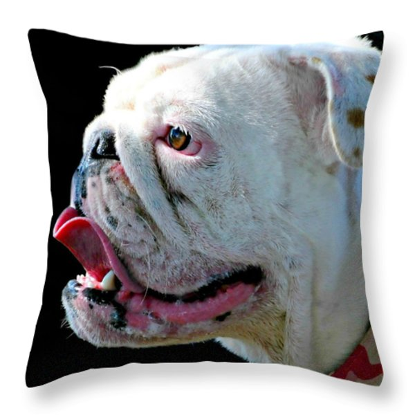 Bull Throw Pillow by Diana Angstadt