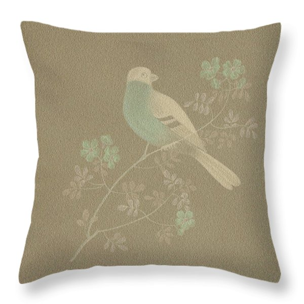 Bull Finch-2 Photoart Throw Pillow by Becky Hayes