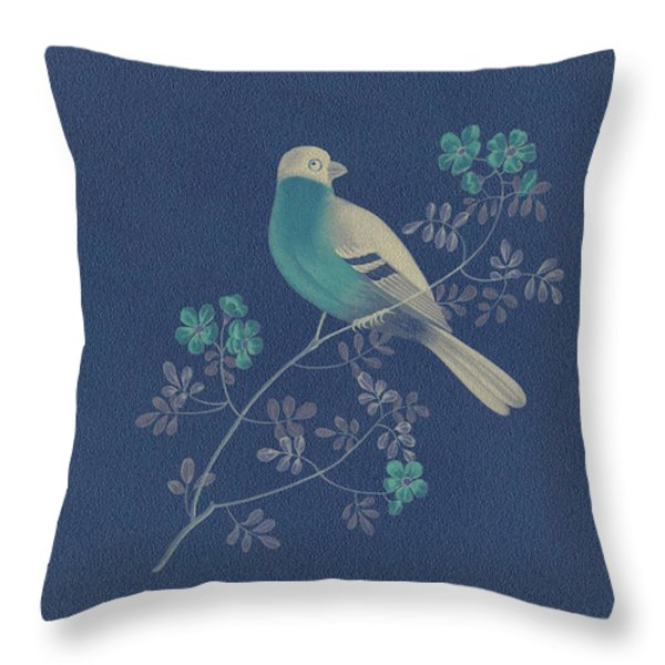 Bull Finch-3 Photoart Throw Pillow by Becky Hayes