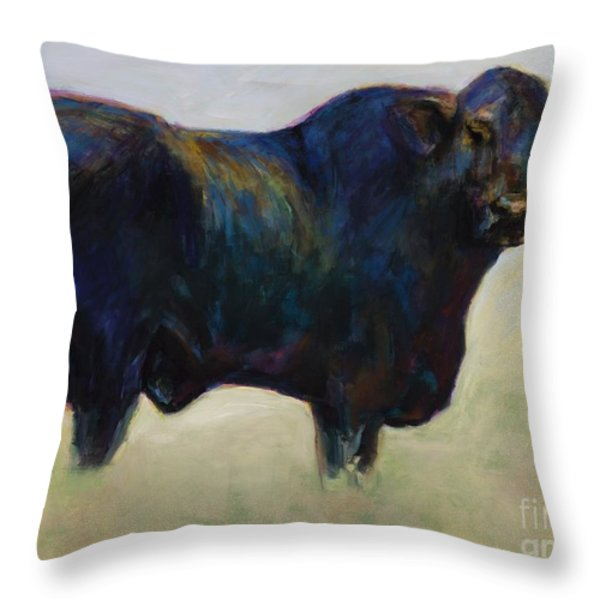 Bull Throw Pillow by Frances Marino