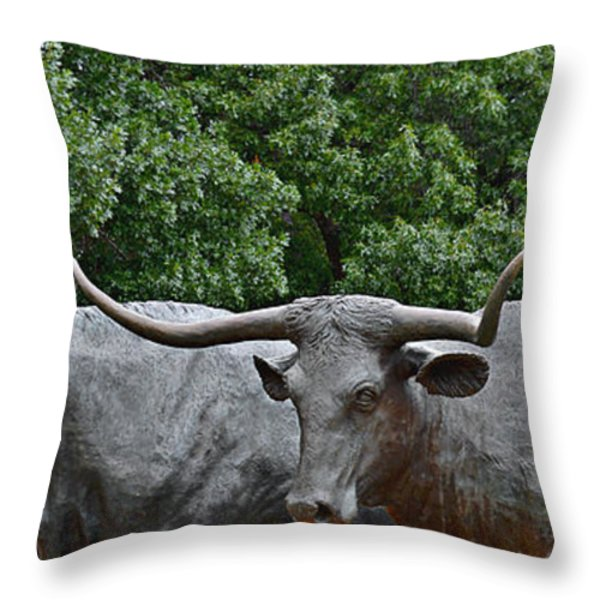 Bull Market Quadriptych 3 of 4 Throw Pillow by Christine Till