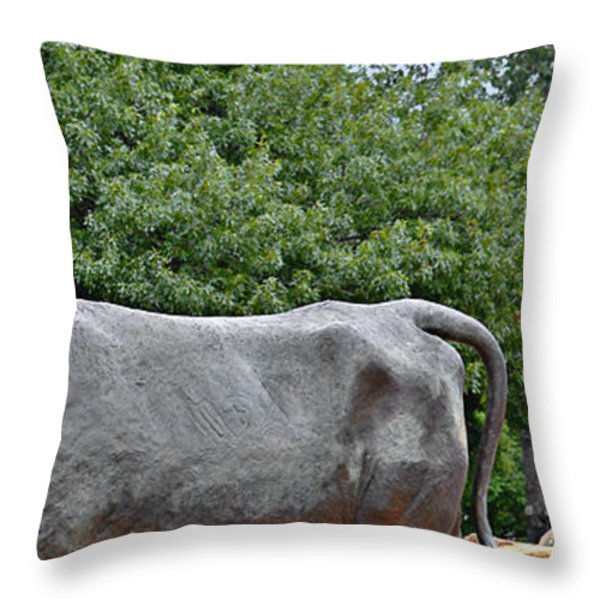 Bull Market Quadriptych 4 of 4 Throw Pillow by Christine Till