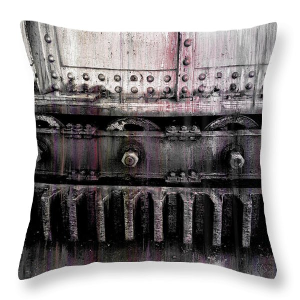 Bull Ring Gear Throw Pillow by Daniel Hagerman
