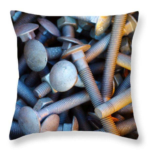 Bunch of Screws Throw Pillow by Carlos Caetano