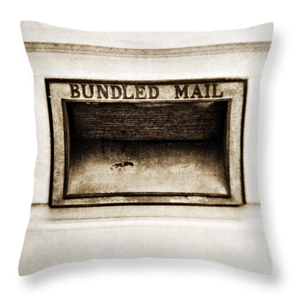 Bundled Mail Throw Pillow by Scott Pellegrin
