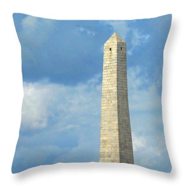 Bunker Hill Monument Throw Pillow by Barbara McDevitt