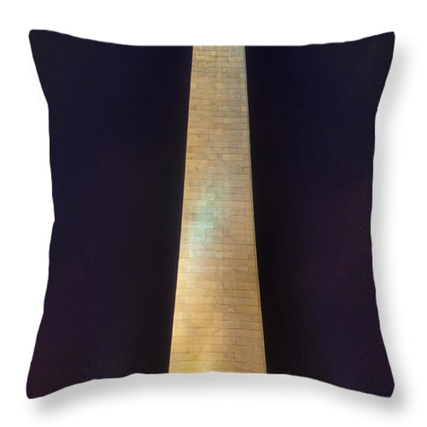 Bunker Hill Monument Throw Pillow by Joann Vitali