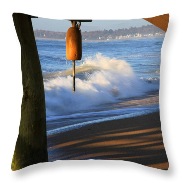 Buoy 2 Throw Pillow by Michael Mooney