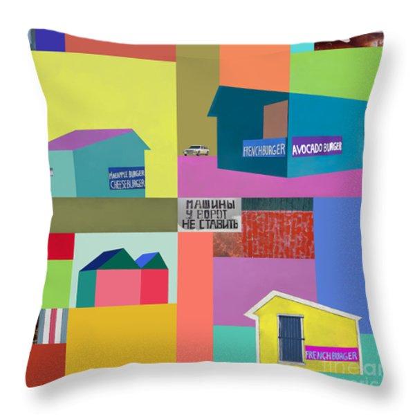 Burger Joint #2 Throw Pillow by Elena Nosyreva