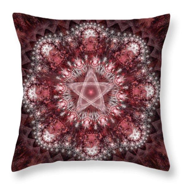 Burgundy Throw Pillow by Sandy Keeton