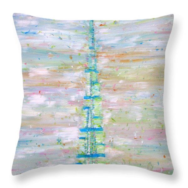 BURJ KHALIFA - DUBAI Throw Pillow by Fabrizio Cassetta