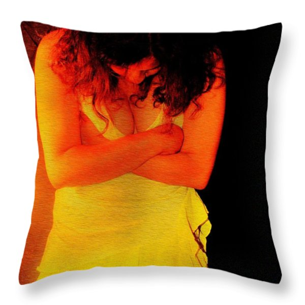 Burned Throw Pillow by Jessica Shelton