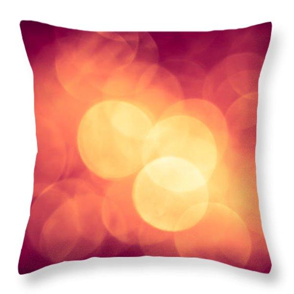 Burning Bokeh Throw Pillow by Jan Bickerton