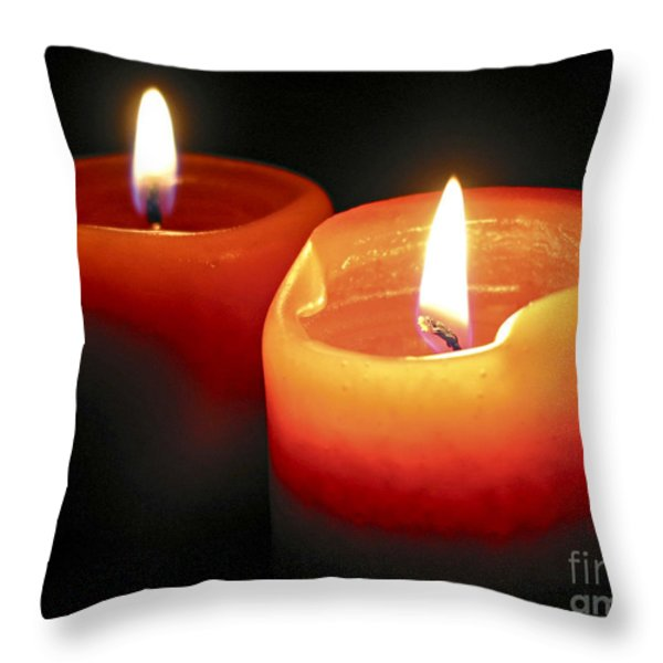 Burning Candles Throw Pillow by Elena Elisseeva