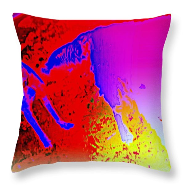 burning friendship Throw Pillow by Hilde Widerberg