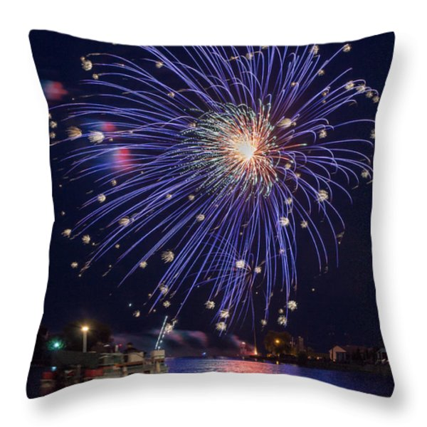 Burst of Blue Throw Pillow by Bill Pevlor