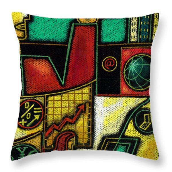 Business Throw Pillow by Leon Zernitsky