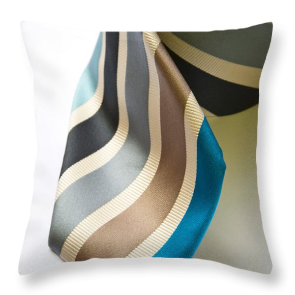 Business Tie Throw Pillow by Tim Hester