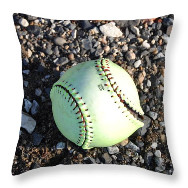 Busted Stitches Throw Pillow by Bill Cannon