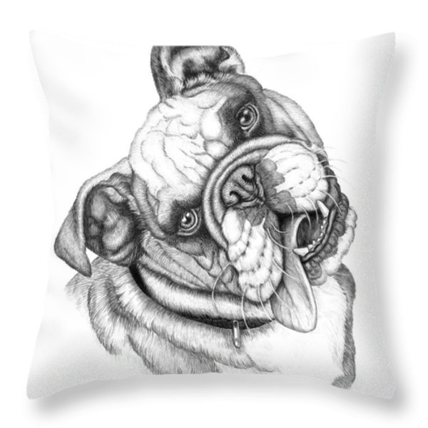 Buster Throw Pillow by Catherine Garneau