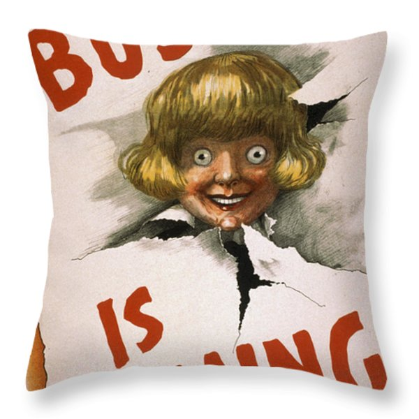 Buster Is Coming Throw Pillow by Aged Pixel