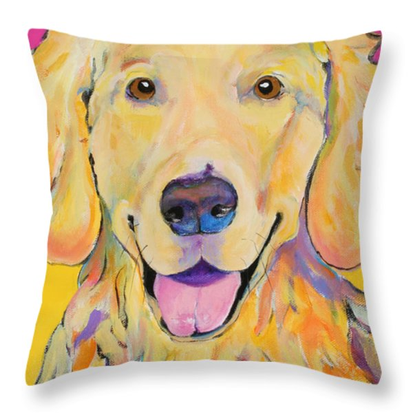 Buster Throw Pillow by Pat Saunders-White