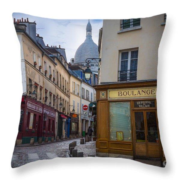 Butte De Montmartre Throw Pillow by Inge Johnsson